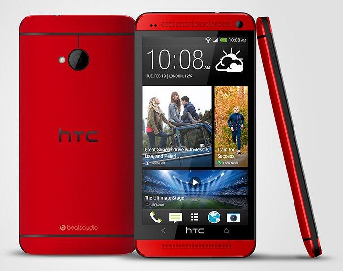 HTC One in Blau und Rot - weitere Bilder