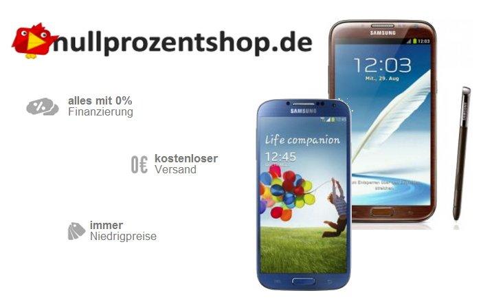Samsung Smartphones mit 50 Euro Rabatt im Nullprozentshop