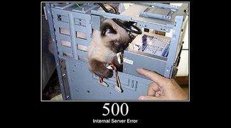 Was kann ich bei einem 500 Internal Server Error machen?