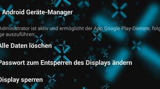Android Geräte-Manager: Fernsperrung von Geräten nun möglich