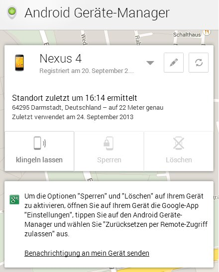 Android Geräte Manager