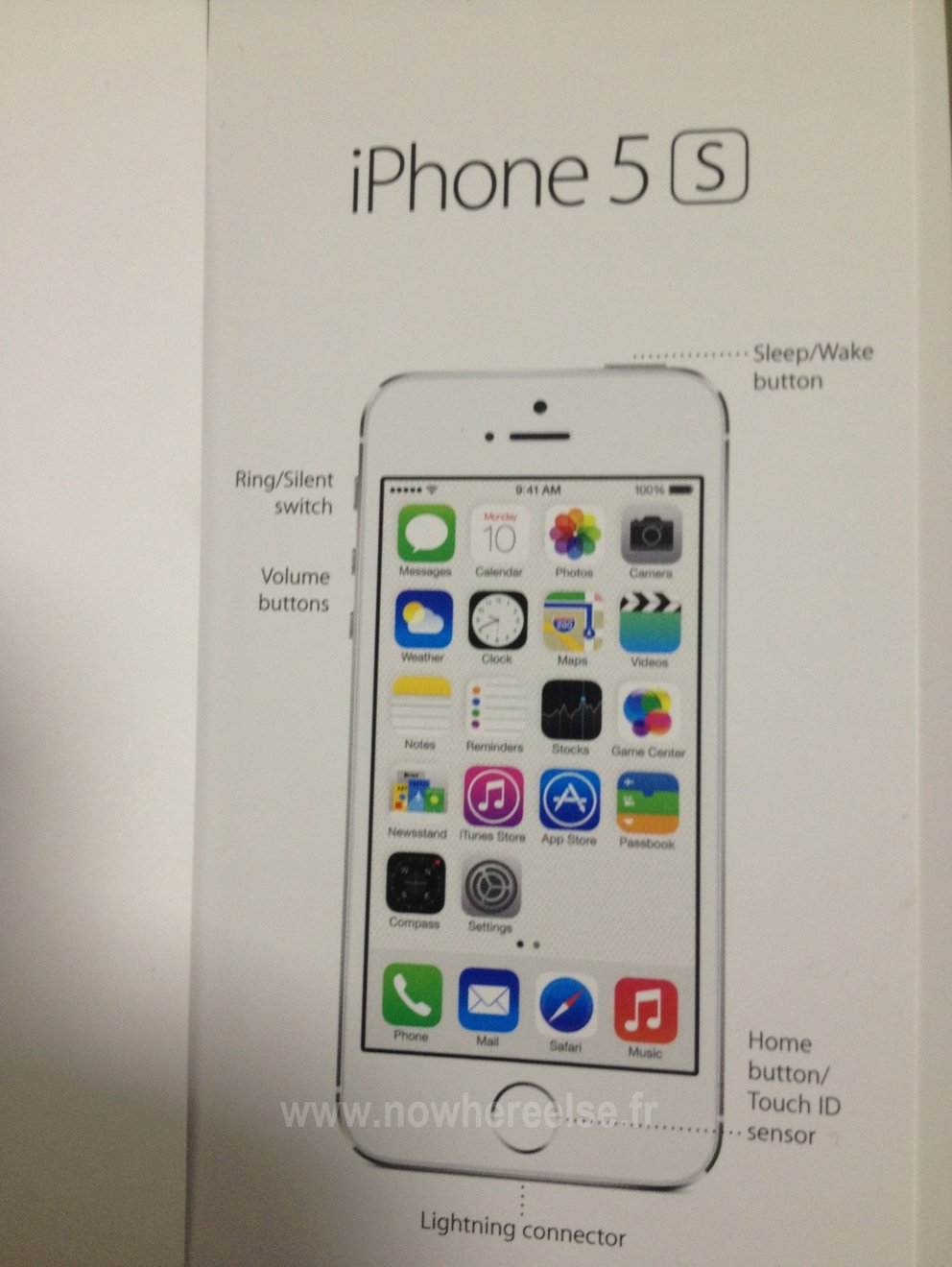 Angebliche Betriebsanleitung des iPhone 5S