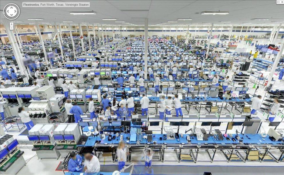 Moto X: Ein virtueller Rundgang durch die Fabrik (mit Google StreetView)