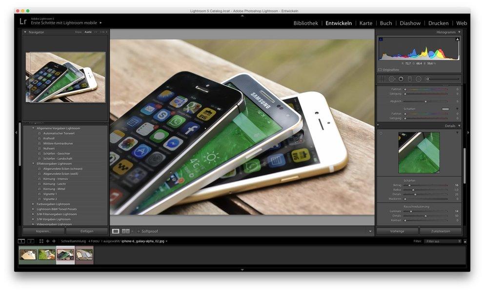 Adobe Photoshop Lightroom: Fotoentwicklung, die für Profis wie Heimanwender geeignet ist.