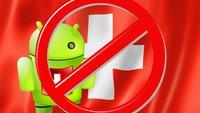 Der Google Play Store und das Problem mit der Schweiz