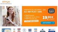 Simyo All-Net Flat mit Gratis SMS-Flat und 1 Euro Anschlussgebühr