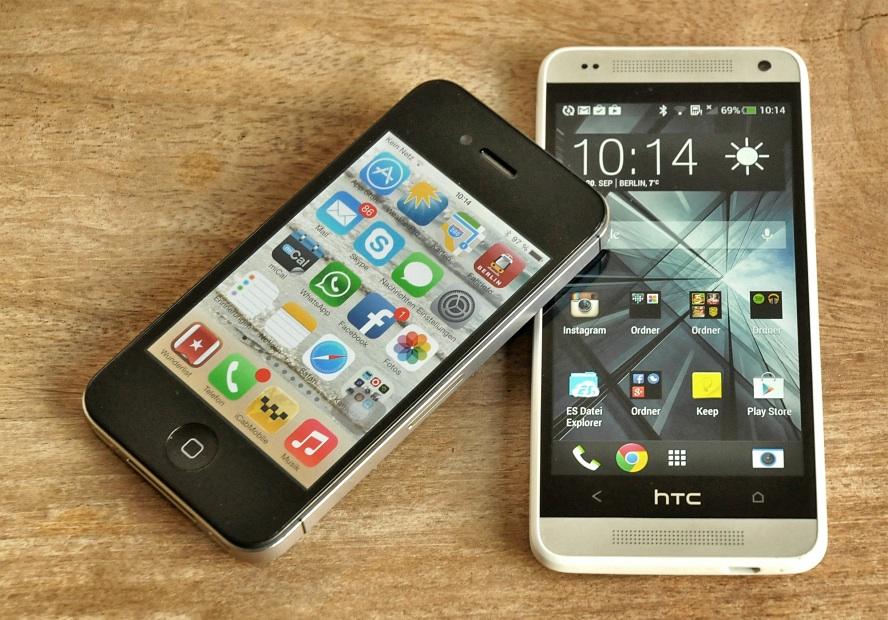 Htc one mini vs iphone 4s
