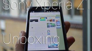 Sony Xperia Z1 Unboxing - Elegant und vielversprechend