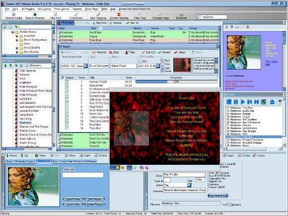 Zortan MP3 Studio Oberfläche