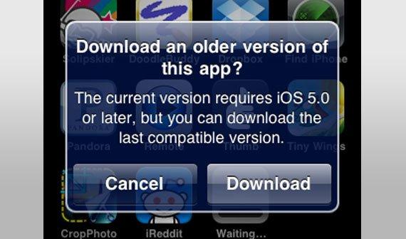 Apple bietet kompatible Apps für ältere iOS-Geräte an