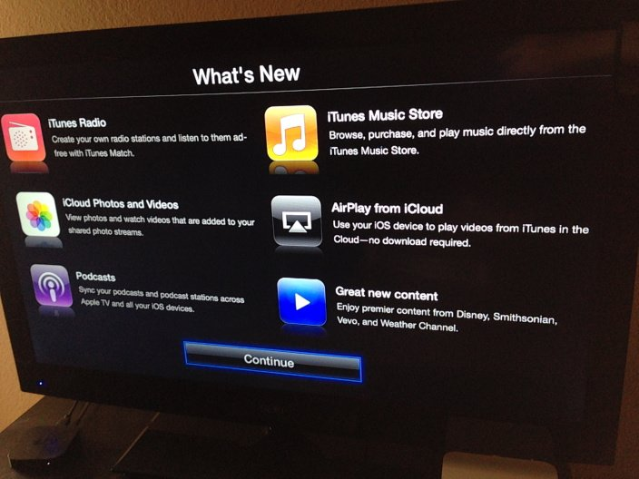 Apple TV: Software-Update 6.0 bringt iTunes Radio und AirPlay aus der iCloud