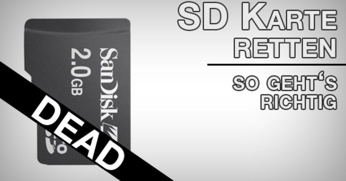 sd karte daten retten Die SD Karte wiederherstellen: Daten selber reparieren und sichern