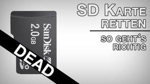 Die SD-Karte wiederherstellen: Daten selber reparieren und sichern