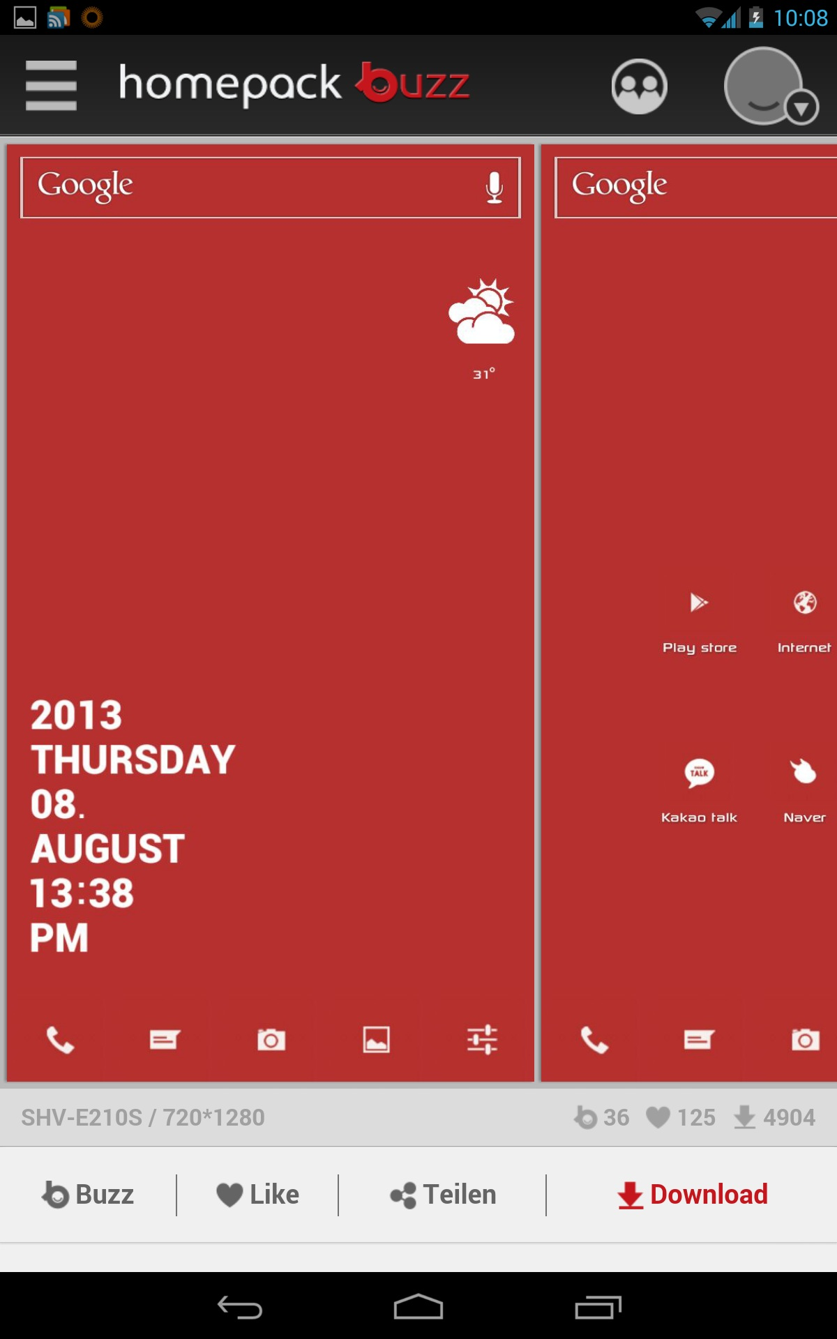 Buzz Launcher: Mächtiges Tool zum freien Gestalten des Homescreens