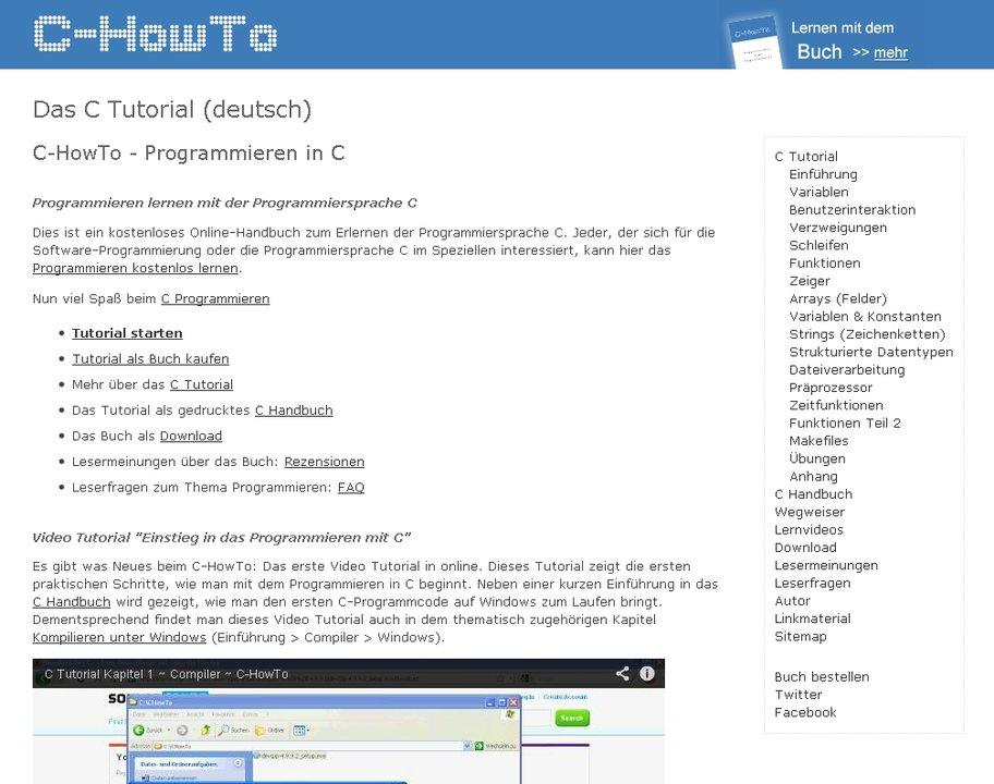 c howto programmieren lernen