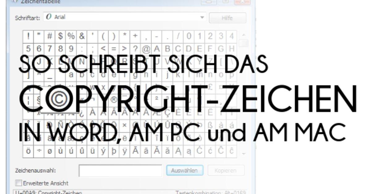 Das Copyright Zeichen Schreiben In Word Am Pc Und Am Mac Giga