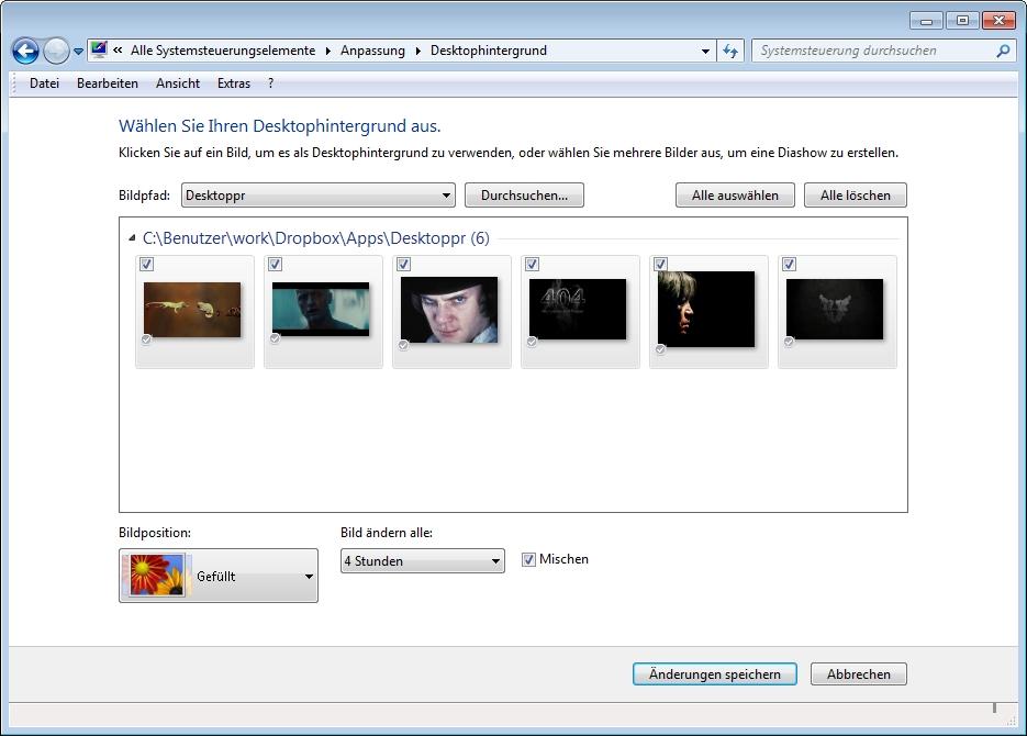 Windows 10 hintergrund diashow unterordner