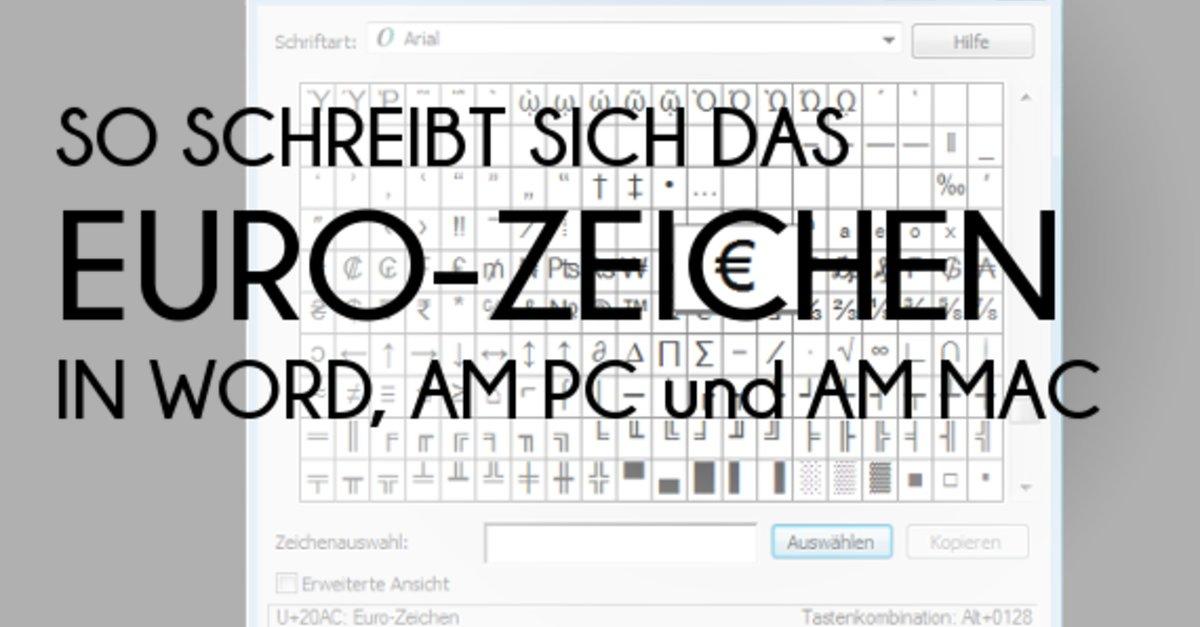 € Das Euro-Zeichen schreiben in Word, am PC und am Mac – GIGA
