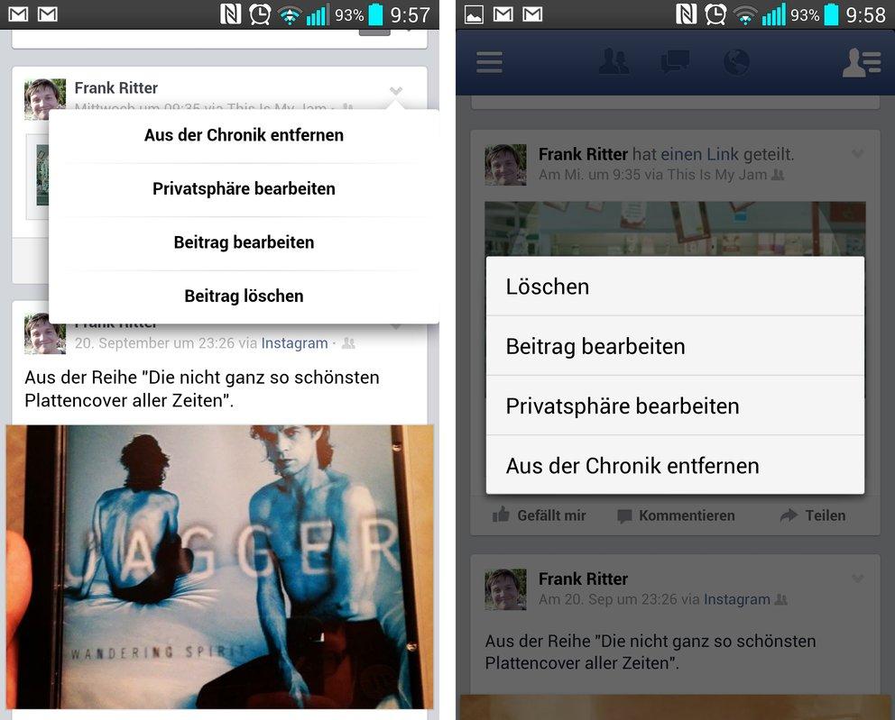 Facebook App Favoriten Bearbeiten