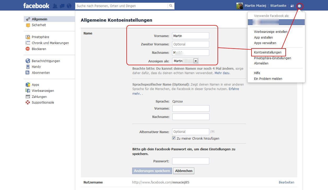 Facebook Namen ändern Wie Geht Das Und Wie Oft Anleitung
