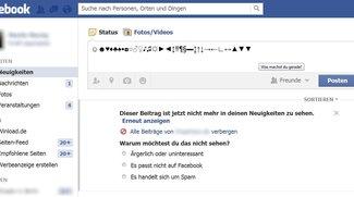 Facebook: Sonderzeichen – so schreibt man Herz, Haken, Noten und mehr