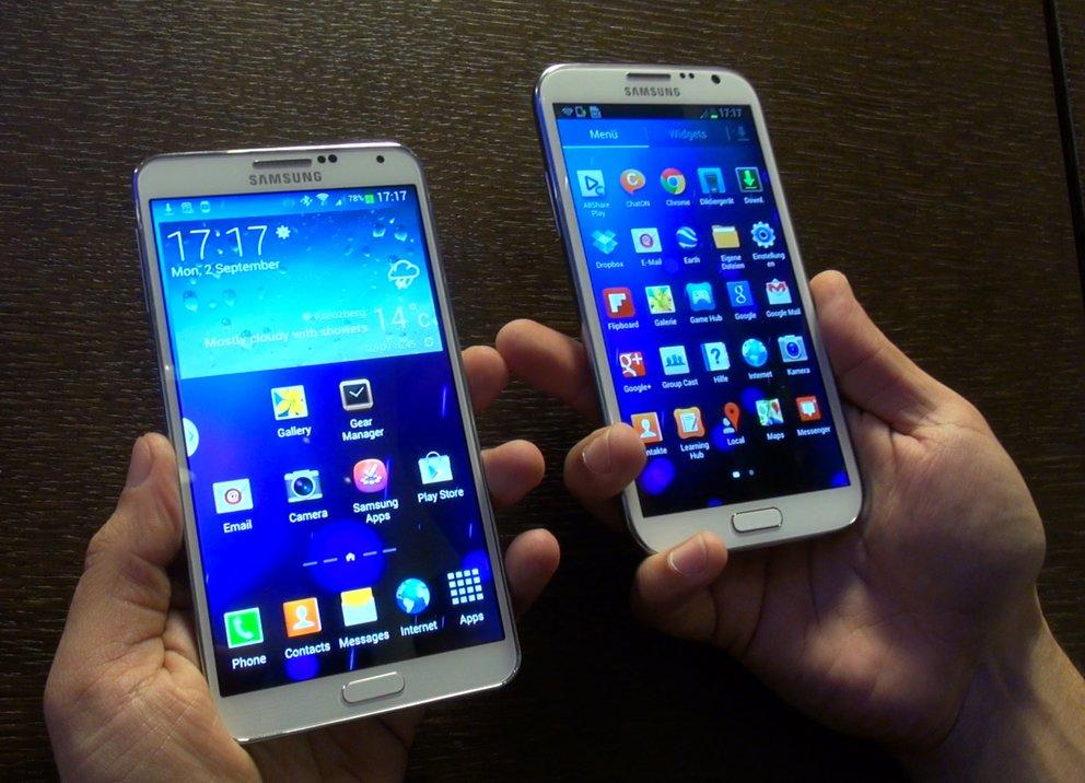 Samsung Galaxy Note 3 vs. Note 2: Phablet-Flaggschiff im Videovergleich mit dem Vorgänger [IFA 2013]