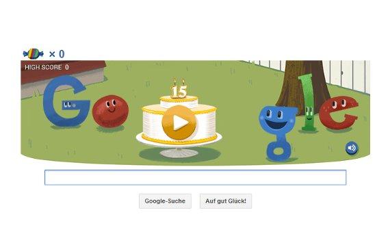15 Jahre Google: Interaktives Doodle zum ungenauen Geburtstag