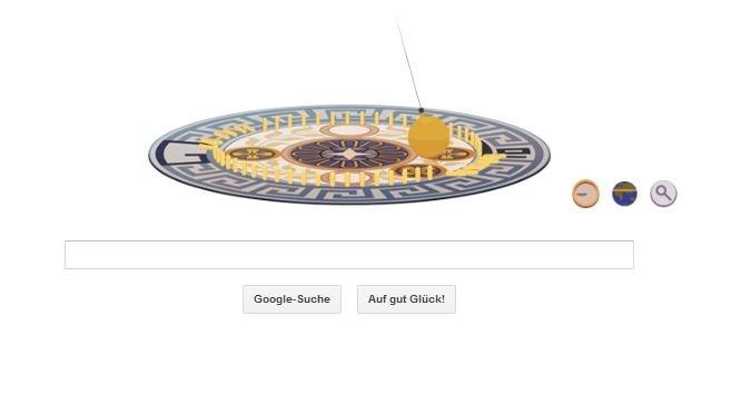 Google Doodle zu Ehren von Leon Foucaults 194. Geburtstag