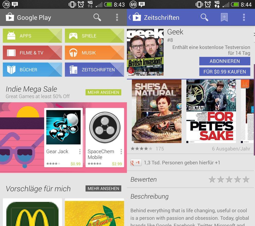 Google Play Magazines: Neue Hinweise auf Deutschlandstart aufgetaucht