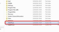 Was ist hiberfil.sys und warum kann ich die Datei nicht löschen?