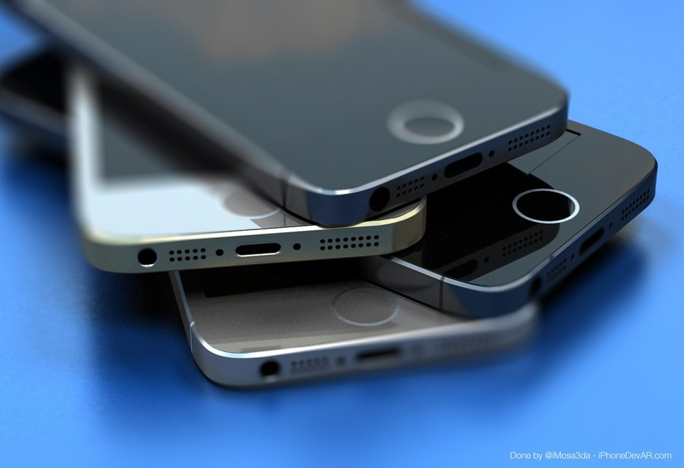 Mockup des iPhone 5S mit neuem Homebutton