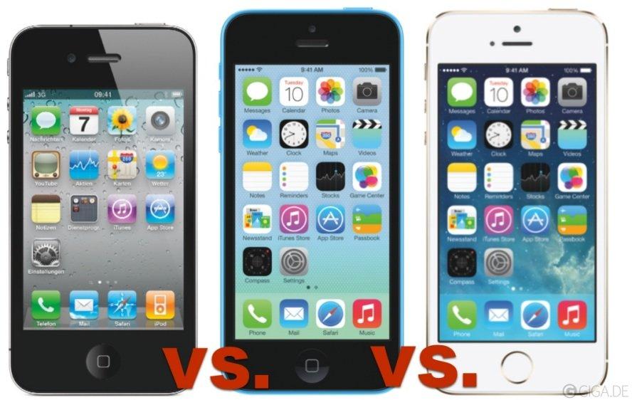 iPhone 5S, iPhone 5C und iPhone 4S im Vergleich (mit Kaufberatung)