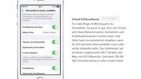 iOS 7: iCloud-Schlüsselbund fehlt in Golden Master