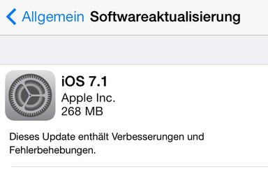 iOS 7.1 Download und Installation
