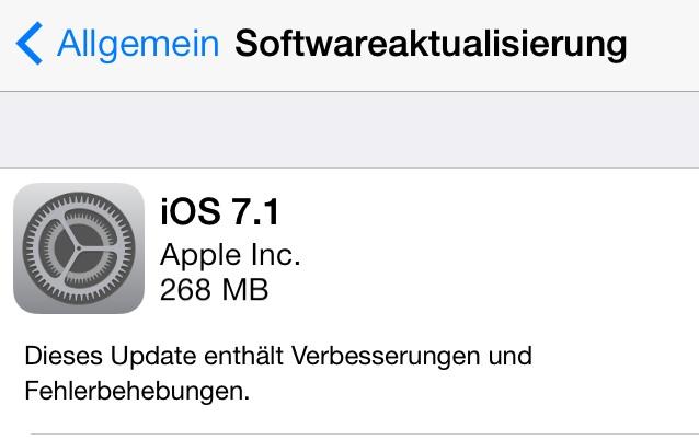 iOS 7 1 Download und Installation: So wird's gemacht