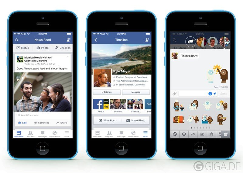 Facebook für iOS 7