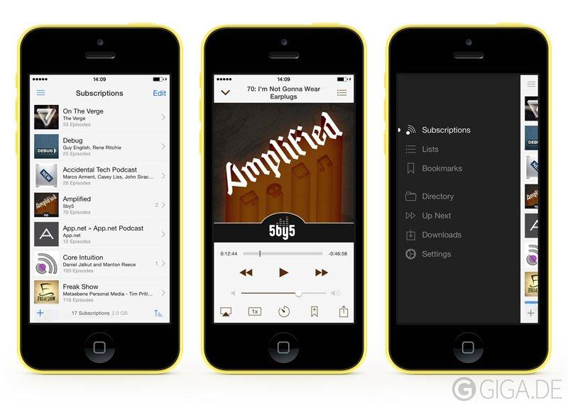Instacast für iOS 7