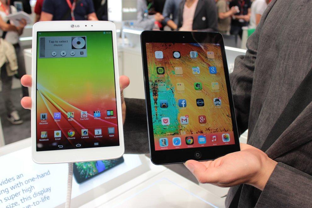 iPad mini vs. LG G Pad 8.3: 8-Zoll-Tablets im Hands-On-Videovergleich [IFA 2013]