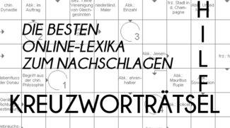 Kreuzworträtsel Hilfe: Die besten Online-Lexika zum Nachschlagen