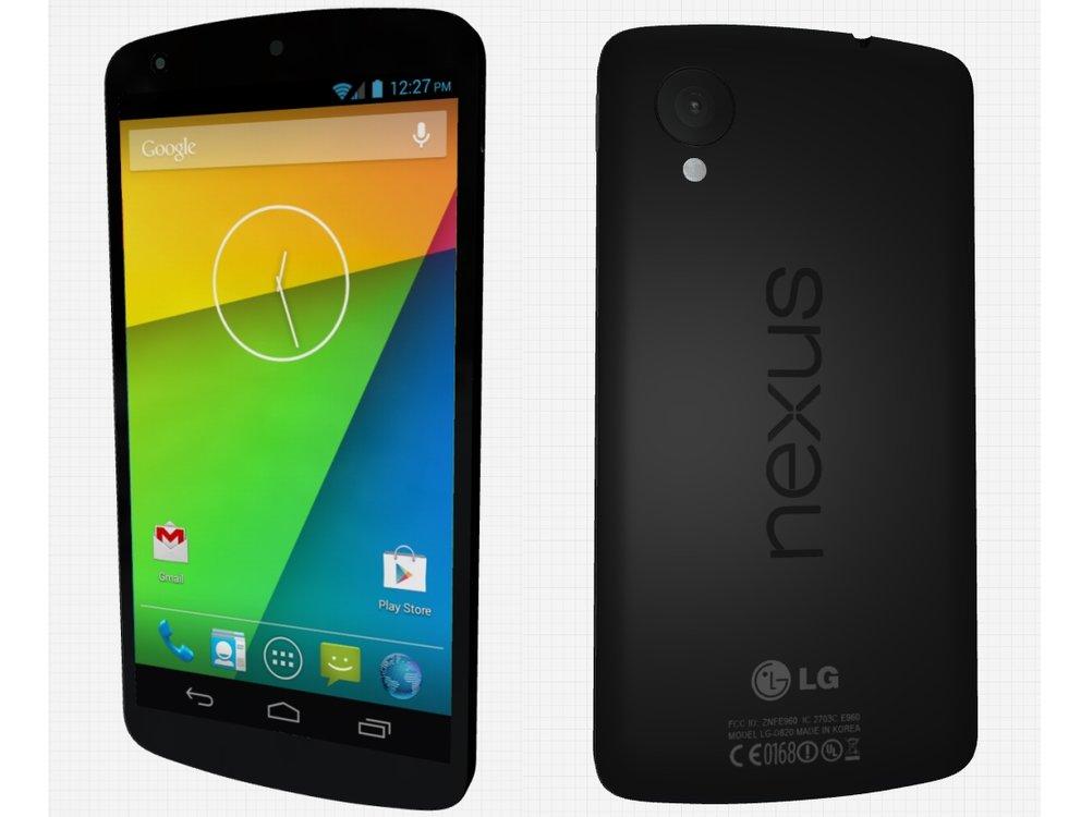 Nexus 5: Drehbares 3D-Modell des Android 4.4 KitKat-Flaggschiffes