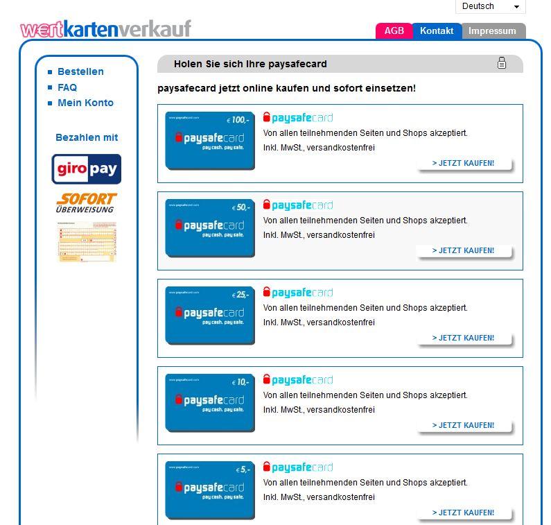 Paysafecard Mit Paydirekt Kaufen