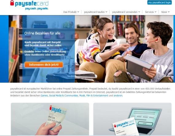 paysafecard online bezahlen