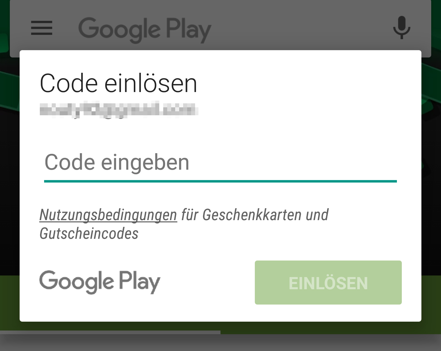 Aufladen Google Play