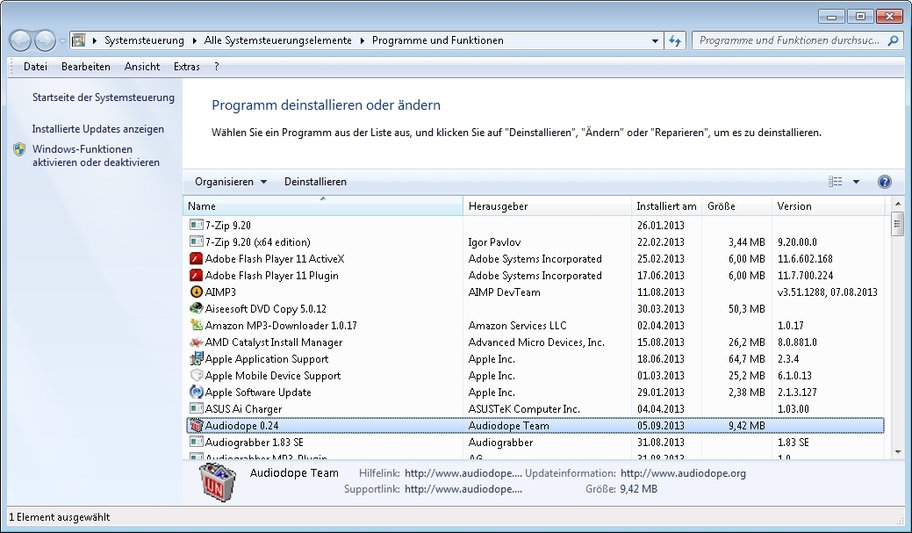 windows programme und funktionen