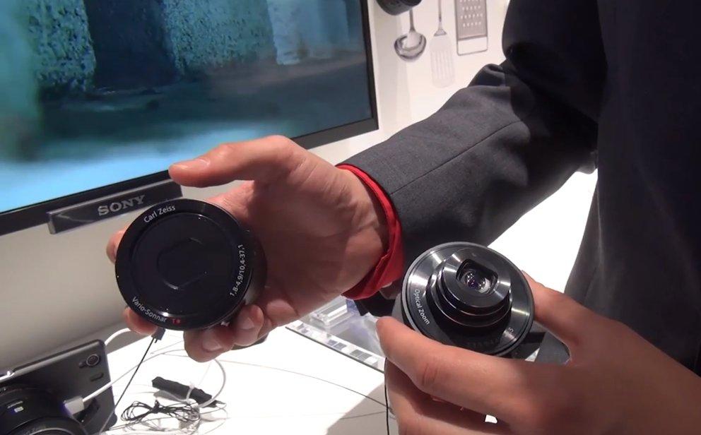 Sony Smart-shot QX10 und QX100: Aufsteckkameras im Video-Hands-On [IFA 2013]