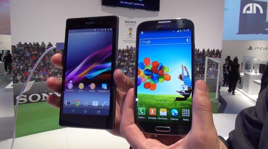 Sony Xperia Z1 vs. Samsung Galaxy S4: Videovergleich der Full HD-Smartphones [IFA 2013]