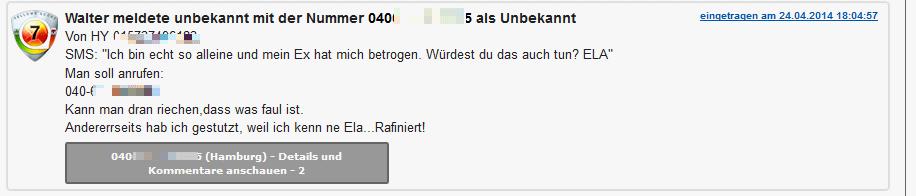 Rückwärtssuche telefonnummer deutschland