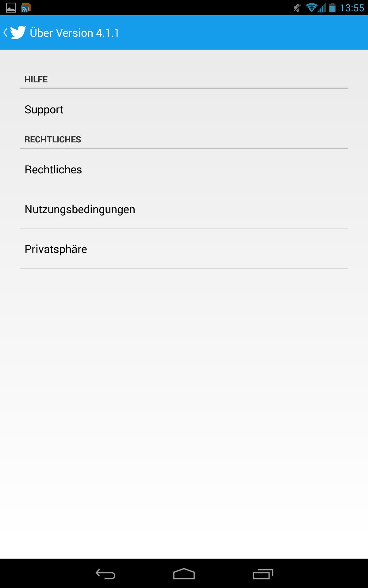 Twitter für Android Tablet optimierte Version vom Galaxy Note ...