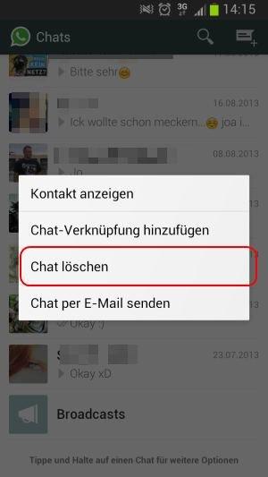 Whatsapp kontakt löschen beim iphone