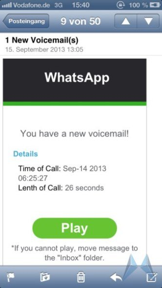 Die WhatsApp Fake Spam E-Mail